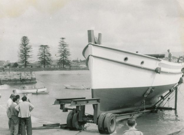 Around 1960. Semi constructed Southern Ocean on the slips, as it was known.