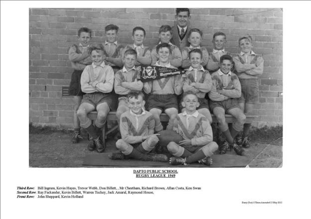 Dapto Public School Rugby League 1949