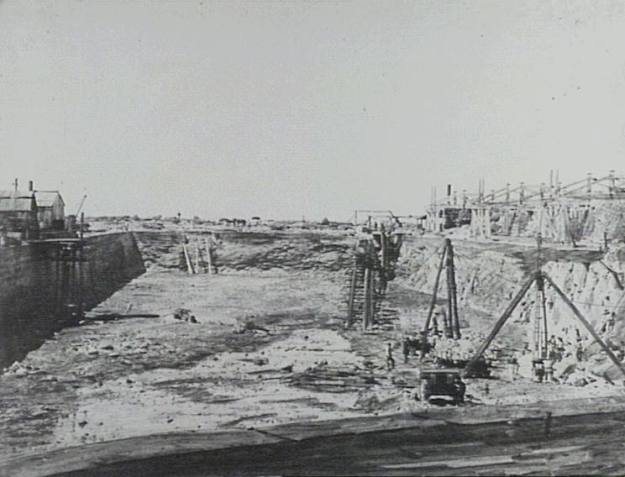 Wollongong Harbour 1860 a
