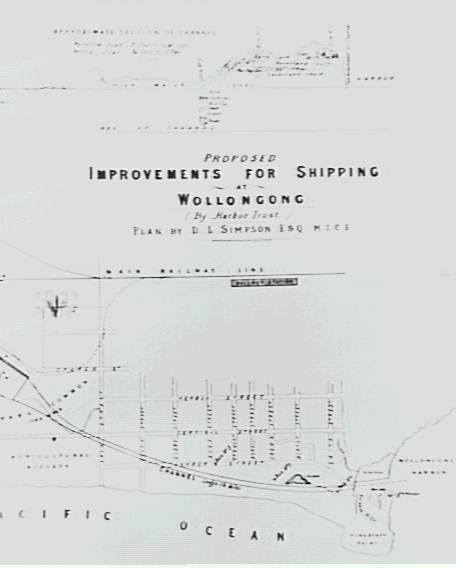 Wollongong Harbour 1880's - A proposal for a canal from Wollongong Harbour to Tom Thumb Lagoon